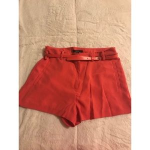 Forever 21 Hot Pink High-Waisted Shorts with Belt